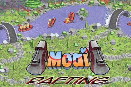 Carte d'un parcours aquatique + logo
