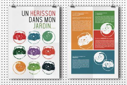 Affiche informative sur les Hérissons