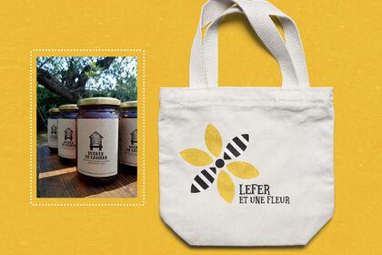 Logo et Étiquettes pour un apiculteur