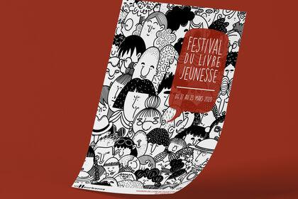 Affiche pour un festival du livre jeunesse