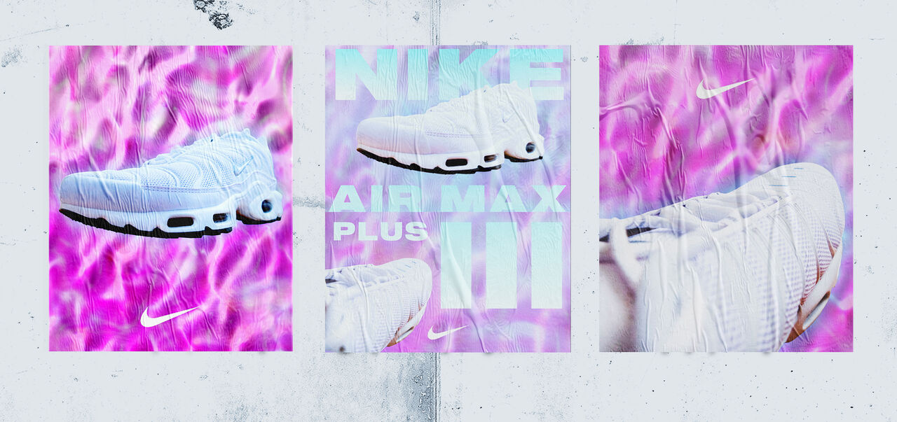 Affiches Nike Air Max Plus III Blanche
