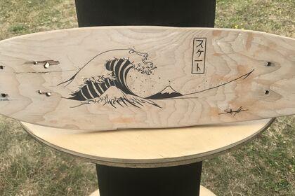Custom planche skate