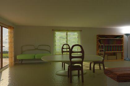 Modélisation Salon Appartement 3D