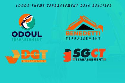 Logos pour entreprises de TERRASSEMENT