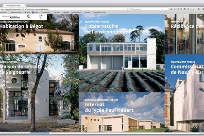 Page d'accueil paysage pour l'agence MPArchitectes