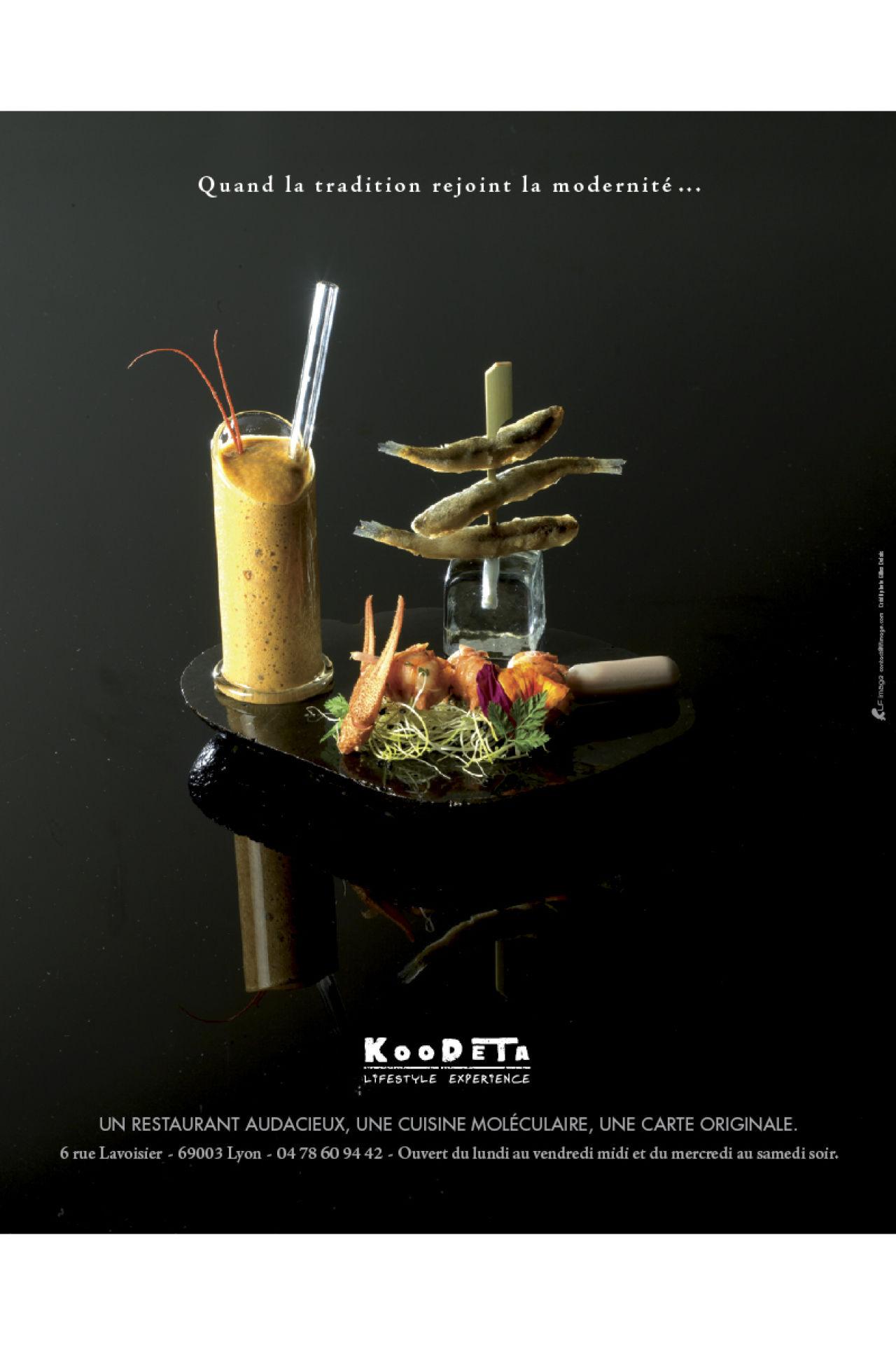 Annonce presse pour le restaurant Le Koodeta