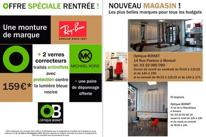 Flyer magasin d'optique