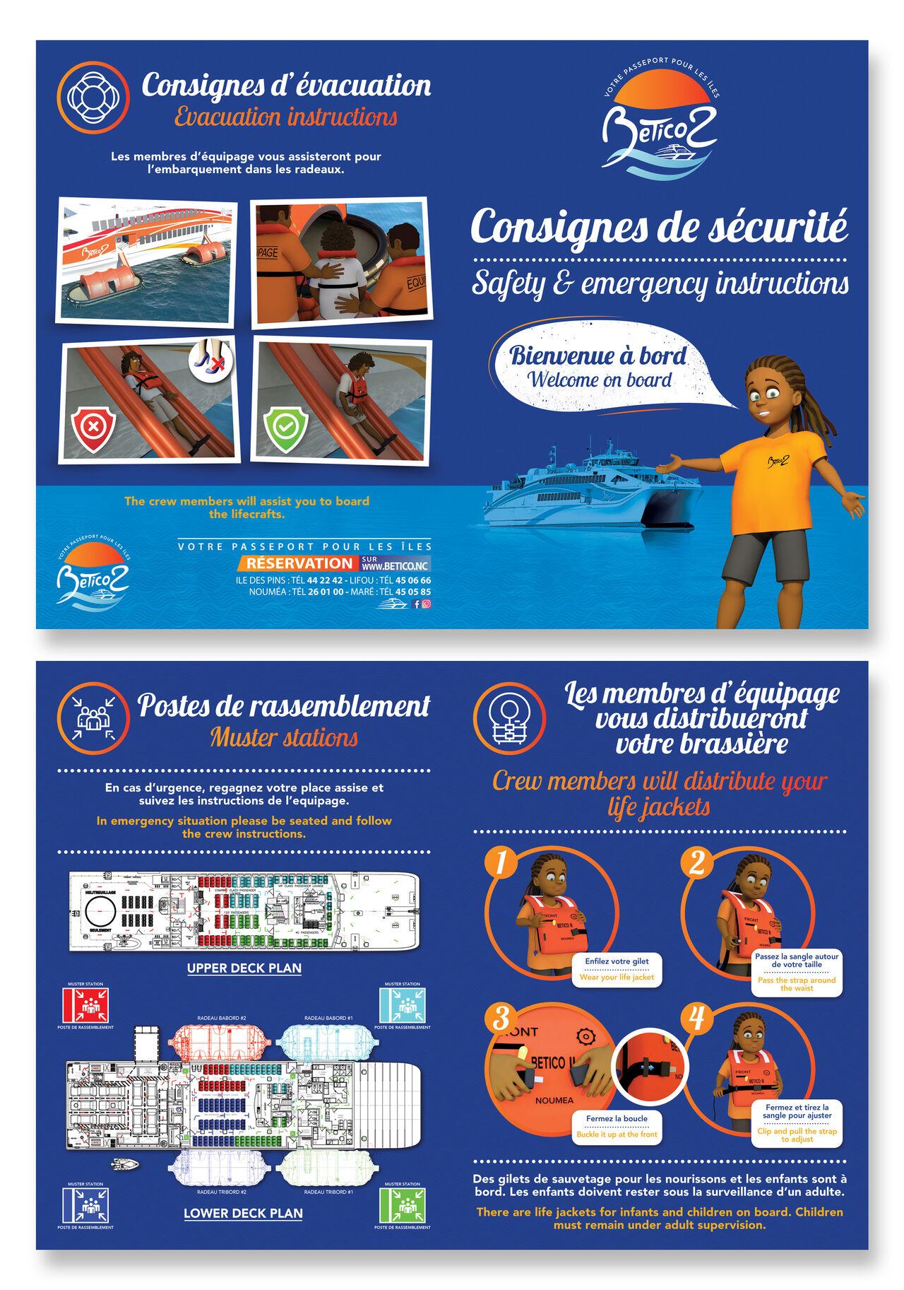 """Brochure """"Consigne de sécurité en bateau"""""""