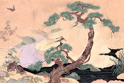 Peinture didgital, style japonais