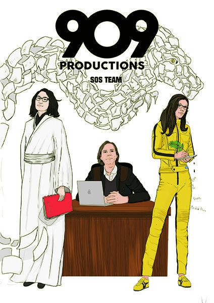 Affiches pour l'équipe TV prod « 909 productio