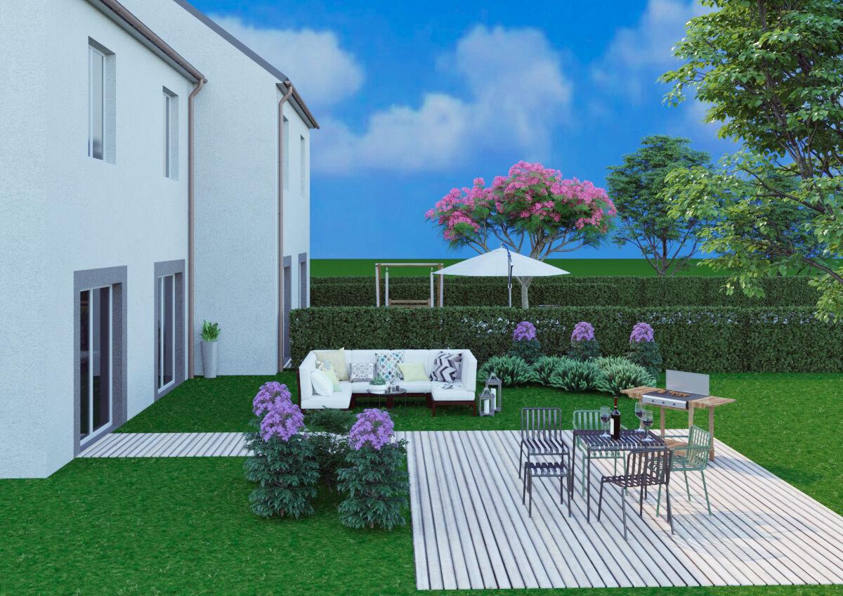 3D Modelisation, 4 Cottages à construire  - louer