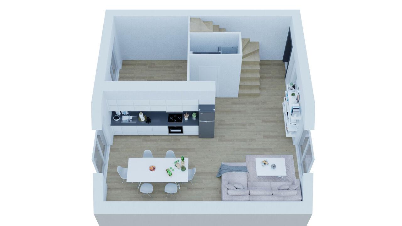 3D modélisation, 4 cottages à louer