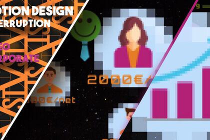 Creation de motion design, gaming 80s