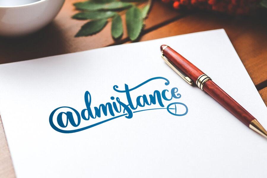 Admistance - Design du logo