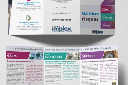 Implex - Design de plaquettes