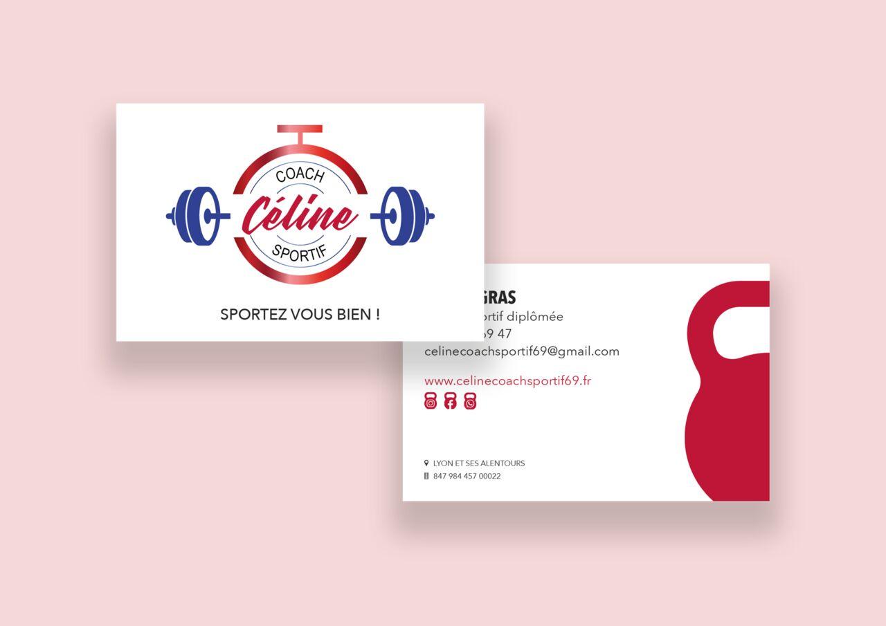 Carte de visite Céline Coach Sportif