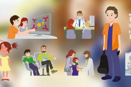 Illustrations pour édition AbbVieCare