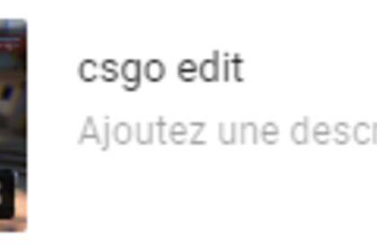 Edit : BestOf CSGO