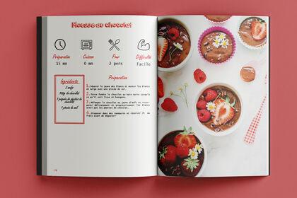 Création et mise en page d'un livre de cuisine