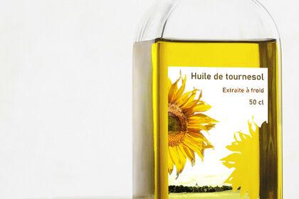 Etiquette huile de tournesol