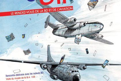 Affiche festival Bulles d'Air - Base Aérienne 105