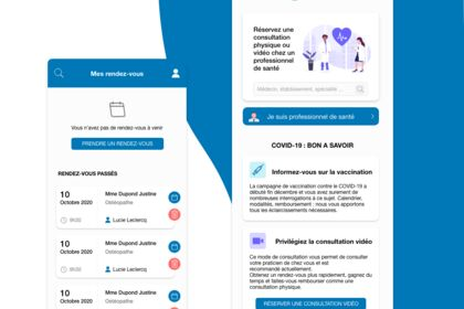 Redesign de l'application Doctolib