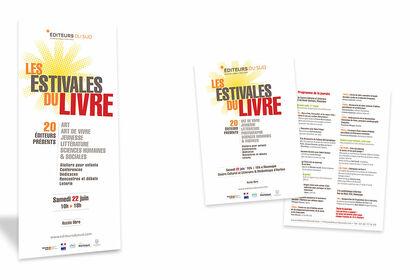 """Roll-up et flyer A4 """"Les Estivales du Livre"""""""