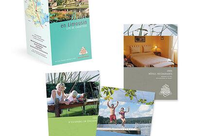 Dépliant 3 volets et brochures touristiques