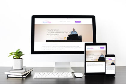 Mockup de site web