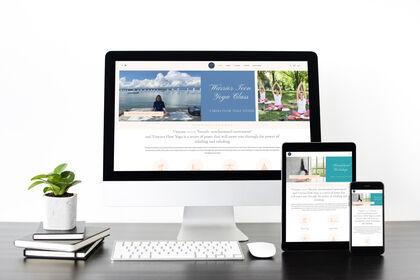 Web design Yoga online