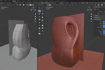 Maquettage flacon 3D