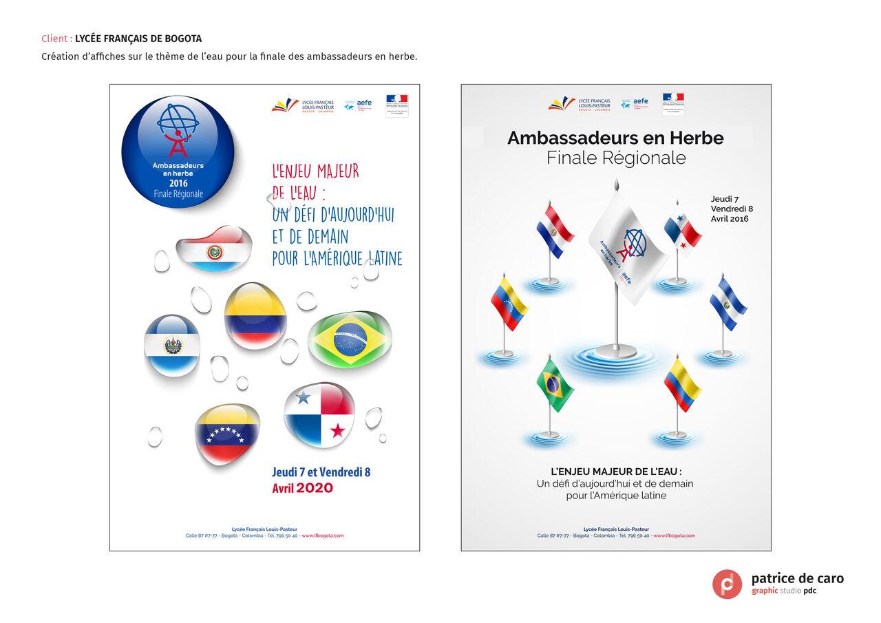 Affiches thème de l'eau : Lycée Français de Bogota