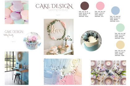Mooodboard Cake Design
