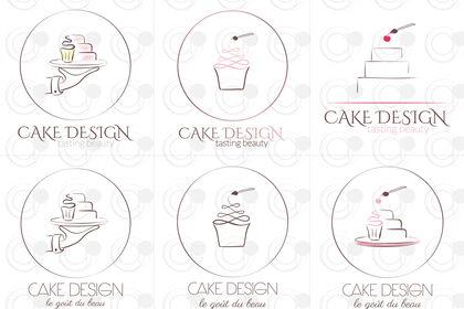 Série de logos Cake Design