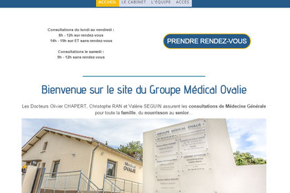 Site web responsive design Groupe Médical Ovalie