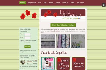 Site web responsive design Lulu Coquelicot