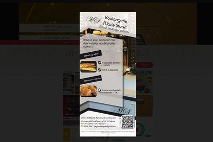 Création d'un flyer pour une boulangerie