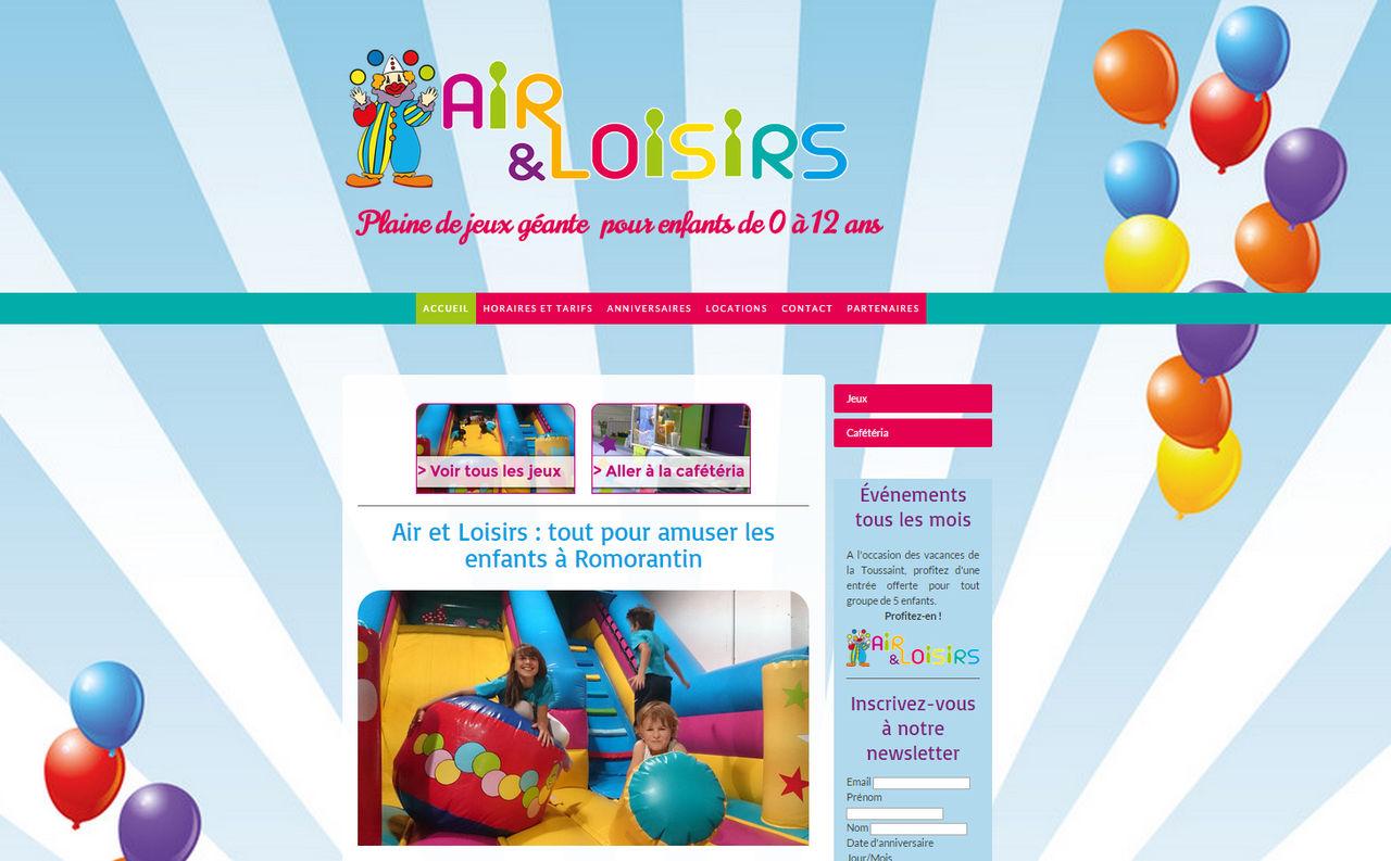 Site web responsive design Air et Loisirs