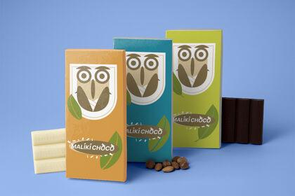 Réalisation de 3 packaging / Maliki Chocolat.