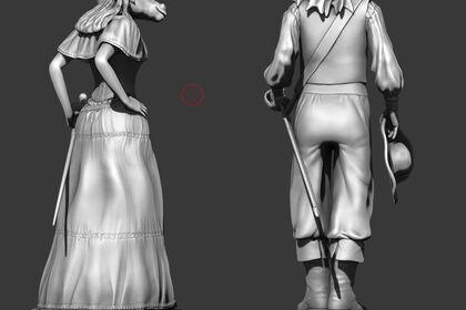 Réalisation figurine 3D pour impression