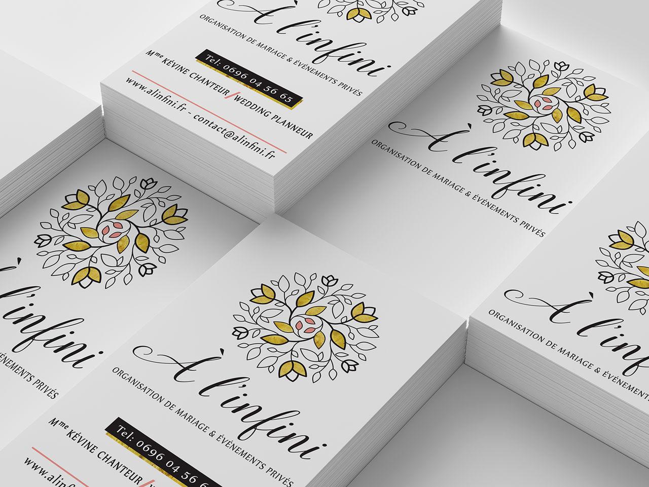 Création logo + cartes de visite weding planner