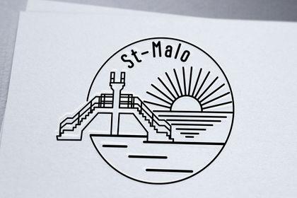 Création logo goodies st-malo pour gîte