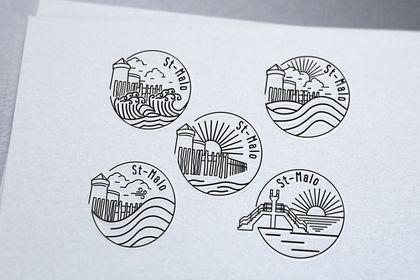 Série de logos goodies st-Malo
