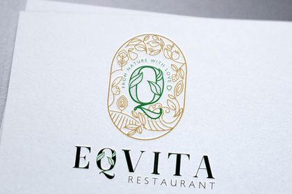 Création logo eqvita restaurant monaco