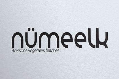 Création du nouveau logo numeelk lait végétal