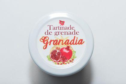 Étiquette confiture de grenade Paris, Granadia
