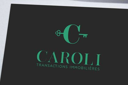 Création logo transactions immobilières Caroli
