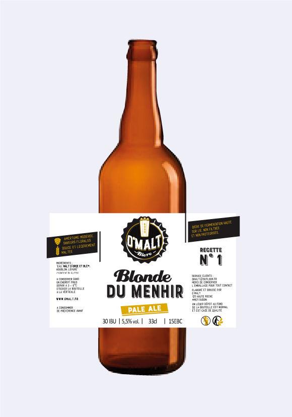 Création étiquette + logo brasserie bière français