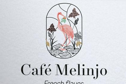 Création logo région de bali, Indonesie, café