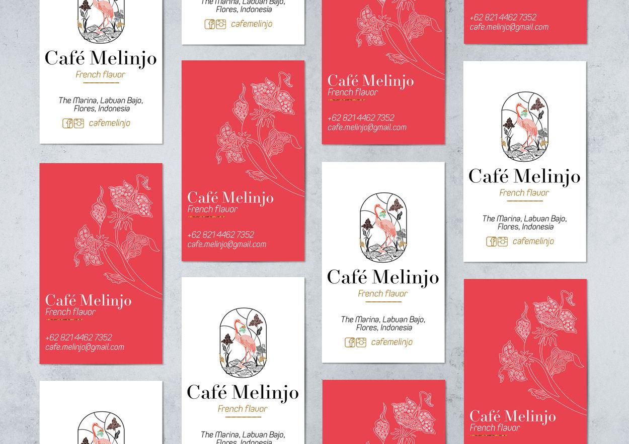 Création cartes de visite Café Melinjo, Indonesie